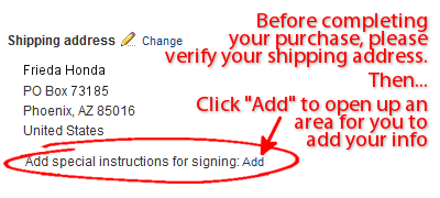Signing Instructions
